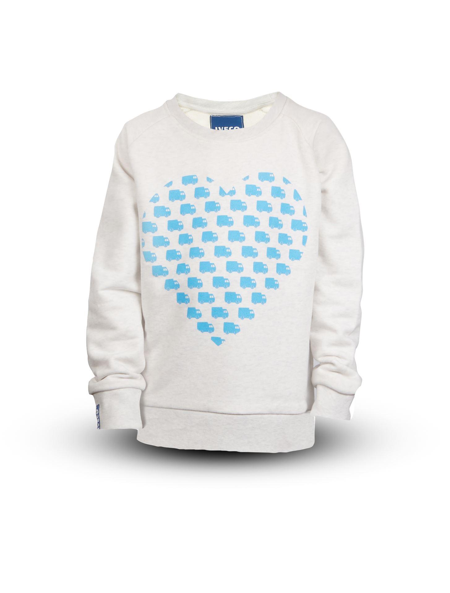 09426617b Iveco Fanshop. GIRL'S HEART SWEATSHIRT